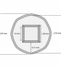 Silicon Nitride 50 nm thick TEM Windows (Single 1000 micron window) One Window: (1) 1000x1000 m