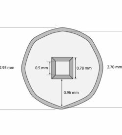 Silicon Nitride 20 nm thick TEM Windows (Single 500 micron window) One Window: (1) 500x500 m