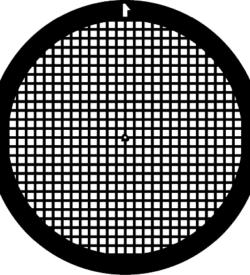 TG250 Copper Palladium Square mesh TEM grid, pack of 100