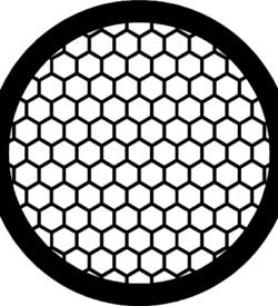 TG100HEX Copper  Hex mesh TEM grid, pack of 100