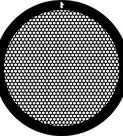 TG300HEX Nickel   Hex mesh TEM grid, pack of 100