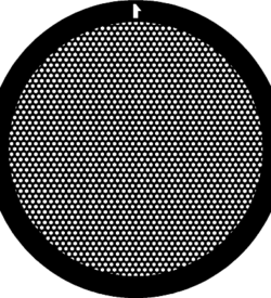 TG400HEX Nickel   Hex mesh TEM grid, pack of 100