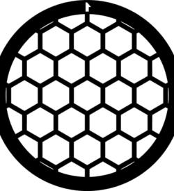 TG50HEX Gold   Hex mesh TEM grid, pack of 50