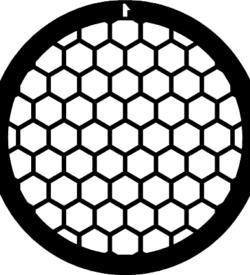 TG75HEX Gold   Hex mesh TEM grid, pack of 50