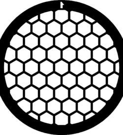 TG75HEX Nickel   Hex mesh TEM grid, pack of 100